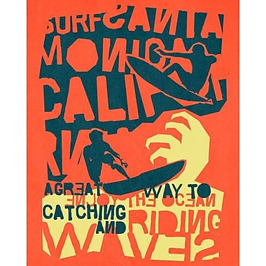 Wheatpaste Catching A Wave by Wheatpaste House Framed Graphic Art on Wrapped Canvas