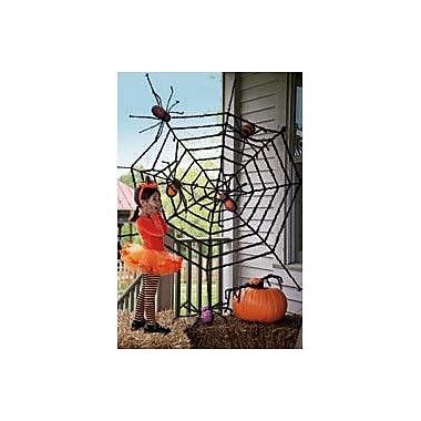 Evergreen Flag & Garden Giant Spider Web Halloween Decoration