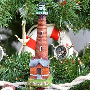 Handcrafted Nautical Decor Currituck Lighthouse Decoration Christmas Tree Ornament