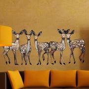 GreenBox Art 5 Dancing Fawns Wall Decal