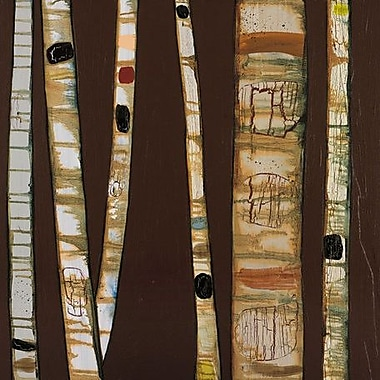 GreenBox Art 'Birch Trunks' by Eli Halpin Graphic Art on Wrapped Canvas in Brown