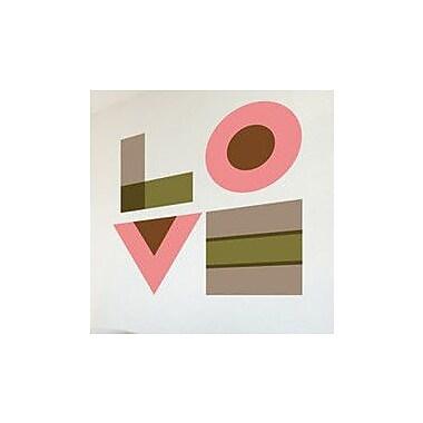 GreenBox Art Love Wall Decal; Pink