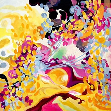 GreenBox Art 'Vibrant Song' by Stephanie Corfee Painting Print on Wrapped Canvas