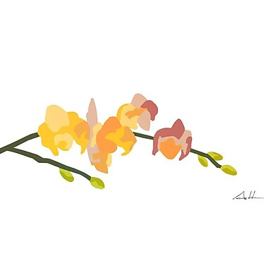 GreenBox Art Orchid Arrangement Series #71' by Andy Anh Ha Graphic Art on Wrapped Canvas