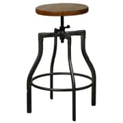 New Pacific Direct Industrial Adjustable Height Swivel Bar Stool