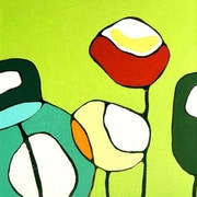 GreenBox Art Poppies by Rachel Austin Graphic Art on Wrapped Canvas in Green