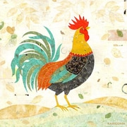 GreenBox Art 'Tail Rooster' by Gale Kaseguma Graphic Art on Wrapped Canvas in Green