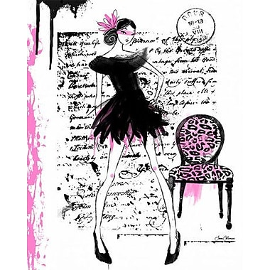 Wheatpaste Catwalk - Couture by Joan Coleman Framed Painting Print on Wrapped Canvas