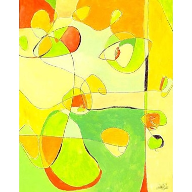 GreenBox Art 'Sherbert' by Jennifer Mercede Painting Print on Wrapped Canvas