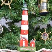 Handcrafted Nautical Decor Assateague Lighthouse Christmas Tree Ornament