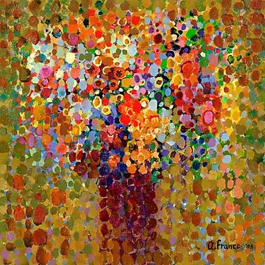 GreenBox Art 'Floral Bouquet' by Angelo Franco Painting Print on Wrapped Canvas