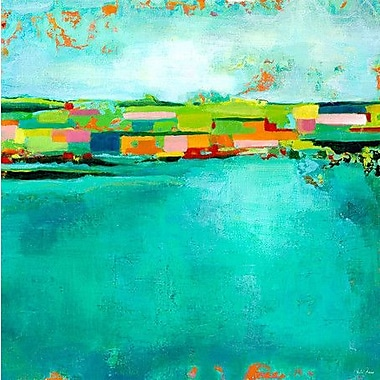 GreenBox Art 'Patchwork Landscape' by Paula Prass Painting Print on Wrapped Canvas