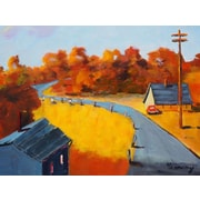 GreenBox Art 'Sun Valley Road' by Robert Kennedy Painting Print on Wrapped Canvas
