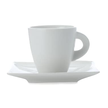 Maxwell & Williams East Meets West Demi Tasse Cup & Saucer, 8/Pack