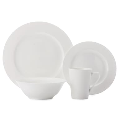 Casa Domani Pearlesque 16-Piece Dinner Set, Rim