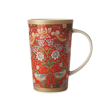Maxwell & Williams William Morris Strawberry Conical Mug, 6/Pack