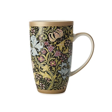 Maxwell & Williams William Morris Black Lily Coupe Mug, 6/Pack