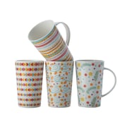 Maxwell & Williams Pattern Party Mugs, Set of 4