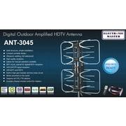 Electronic Master – Antenne TVHD télécommandée, 26 x 32 x 4,8 po, argenté
