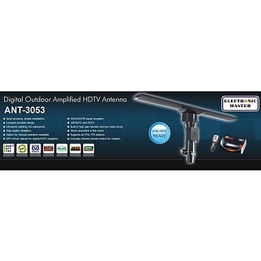 Electronic Master Remote Controlled HDTV Antenna, 7.6