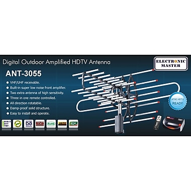 Electronic Master Remote Controlled HDTV Antenna, 22