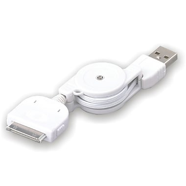 Electronic Master 3' iPod Male to USB Male Retractable Cable, 1.2