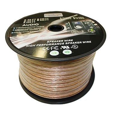 Electronic Master 200' 2 Wire Speaker Cable with 14awg, 3.5