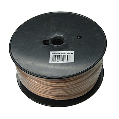 Electronic Master 100' 2 Wire Speaker Cable with 12awg, 5.1