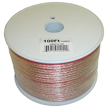 Electronic Master 100' 2 Wire Speaker Cable with 14awg, 2.8