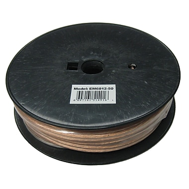 Electronic Master 50' 2 Wire Speaker Cable with 14awg, 3.2