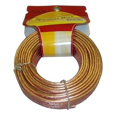 Electronic Master 50' 2 Wire Speaker Cable with 16awg, 3.2