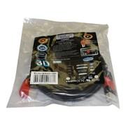 Electronic Master – Câble HDMI à angle droit mâle à mâle de 6 pi, 0,8 x 6,3 x 6,3 po, noir