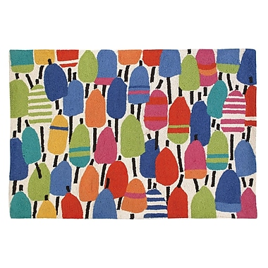 Kate Nelligan Buoys Hooked Area Rug