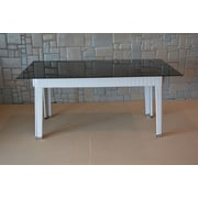Wicked Wicker Star Dining Table; White