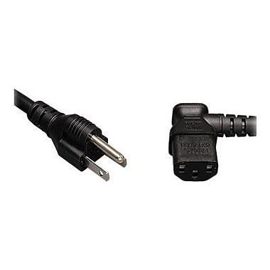 Tripp Lite 10' NEMA 5-15P/IEC320C13 Right Angle Male/Female Universal Computer Power Cord, Black (P006-010-13RA)