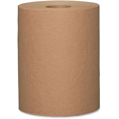 Metro Paper 1-Ply Jumbo-Size Paper Towels, Fibre Brown, 6 Rolls/Box