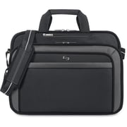 "Solo Sterling 17"" Laptop Briefcase, Black"