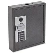 FireKing 30-Key E-lock Steel Key Cabinet with Key Lock Bolts, Black/Silver