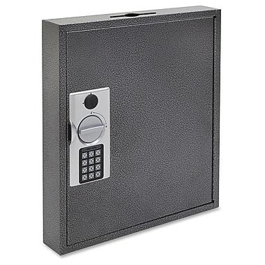FireKing - Armoire à clés en acier à verrouillage numérique avec boulons de blocage à clé, blanc/jaune/argenté/noir