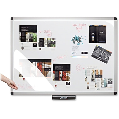 Justick Elctro-Adhsion Whiteboard with Overlay, 48