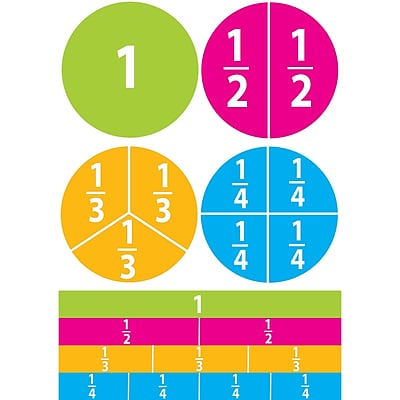 Ashley Math Die Cut Magnet, Beginning Fractions, 5/Pack 1582475