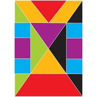 Ashley Math Die Cut Magnet, Tangrams, 90/Set (ASH10063)