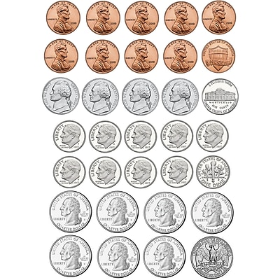 Ashley Math Die Cut Magnet, U.S. Coins, 5/Pack 1582420