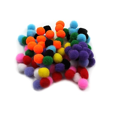 Charles Leonard – Balles velues pompons Creative Arts, couleurs variées, 1/2 po, 1500/paquet (LCH69100)
