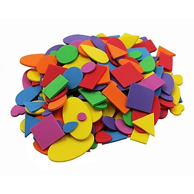 Charles Leonard Creative Arts™ Foam Shapes, Assorted Colors/Sizes, 6/Pack
