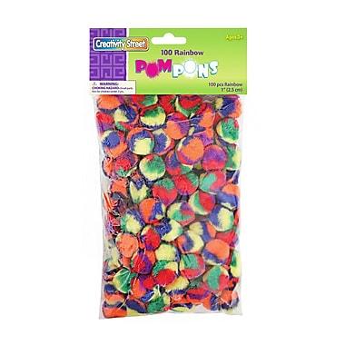 Chenille Kraft Company® Pom-Poms, Rainbow, 1