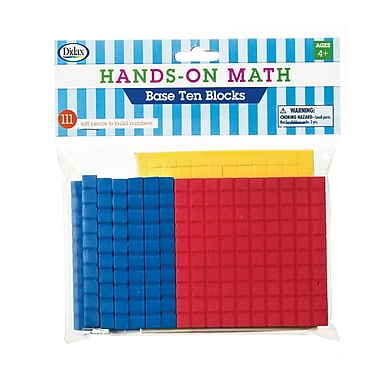 Didax Hands-On Math Foam Ten Base Blocks, 333/Pack (DD-211431)