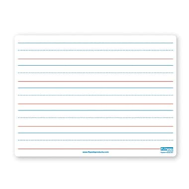 Flipside Dual Sided Magnetic Dry Erase Board, Red & Blue Ruled, 9