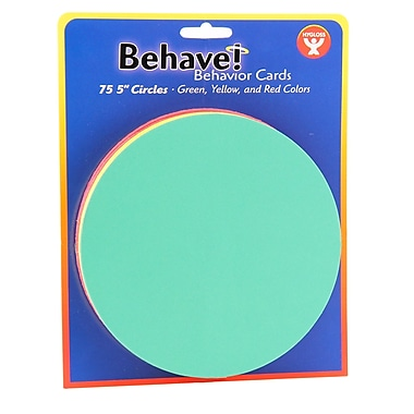 Hygloss Behaviour Cards, Circles, 4/Pack