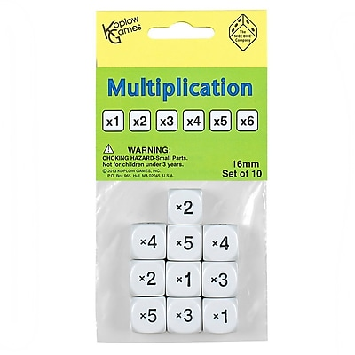 Koplow Games Inc Dice Set, Multiplication, 4/Set